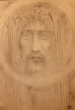 Kahlil Gibran: Portrait of Christ (after Shroud of Turin)?, graphite on paper, c1902-1904