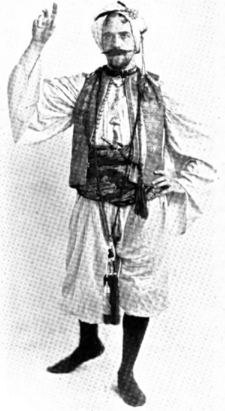 Jack Abbott in Arabian costume